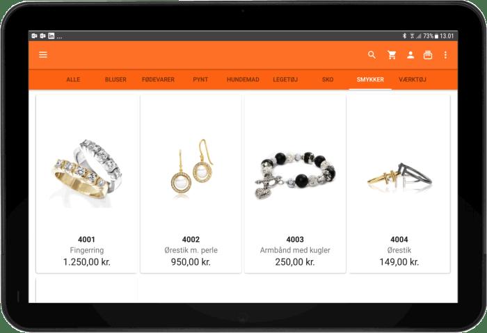 Produktoversigt sales2go salgsapp
